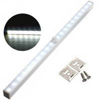 Wholesale Drawers Lights - Wholesale- 20 LED Wireless PIR Motion Sensor Battery Power Cabinet Drawer Light Closet Cabinet Lamp Night Light LED Light