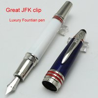 Notes special clips - New arrived M Brand JFK Fountain pen Great Special Edition ink pen cover with carbon luxury clip writing ink pen for gift