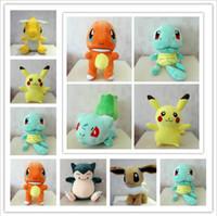 Wholesale Turtles Stuffed Toys - 30cm Poke Plush Toys Bulbasaur Squirtle Charmander Stuffed e Plush dolls children Pikachu Jeni turtle Plush dolls