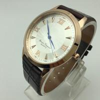 Wholesale Atm Waterproof Watch - 2017 Replica new watch men's top luxury brand quartz watches ATM waterproof men watches leather fashion watch men leisure sports watch dress