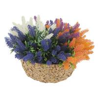цветочный офисный стол оптовых-Искусственные цветы лаванды букет с 4 цветными цветами аранжировки свадебный дом DIY настольные цветы сад офис Свадебный декор 125 -1080
