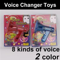 Wholesale Toy Tubas - Multi Voice Changer toy plastic Voice Encryptor Red&blue+LED lights Handheld Tuba Voice Changer kids toys Funny toys wholesale
