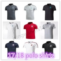 Wholesale Quick Drying Polo - top thai quality 2017 2018 Real Madrid Soccer Jerseys 17 18 ROBBEN LEWANDOWSKI RONALDO POGBA ROONEY soccer polo Shirts