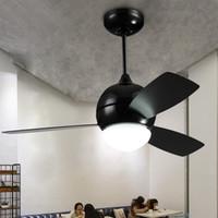 luz de ventilador de madeira venda por atacado-Americano Loft Fan Light com Controle Remoto Moda Restaurante Industrial Retro Ventilador De Teto Lâmina De Luz De Madeira de 36 polegadas 42 polegadas 110 V 220 V