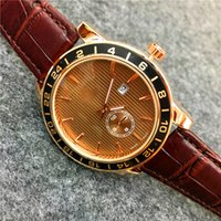 Wholesale Fashion Design Items - Fashion Hot Items Man Watches Top Brand Life Waterproof Genuine Leather 45mm Big Dial Gentleman Quartz Special Design Classic Free shipping