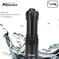 Wholesale Pool Torches - AloneFire DV32 Diving flashlight 18650 26650 LED Underwater Flashlights XM-L2 Waterproof dive light Lamp Torch Portable Lantern Lights
