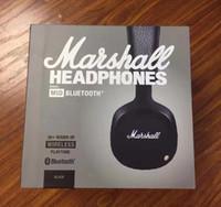 auriculares inalámbricos bluetooth estéreo dj al por mayor-Marshall MID Bluetooth Auriculares para DJ con micrófono Deep Bass Estéreo Hifi Auriculares Auriculares inalámbricos