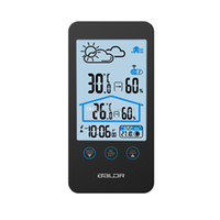 Mode Baldr Wireless Wetterstationen Prognose Kalender Uhr Thermometer Hygrometer Mondphase mit Signalprojektor