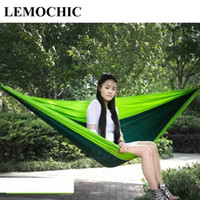 Wholesale Furniture Bearing - Wholesale- High quality LEMOCHIC Best-seller Big size Load-bearing Portable Travel Sleeping Hammock for Outdoor Camping Furniture