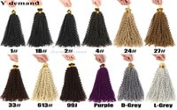 Wholesale 613 Kinky Curly Hair - Water Wave Crochet Braids Freetress Crochet Synthetic Kinky Curly Hair Crotchet Bulk Braiding Hair Extensions Y demand