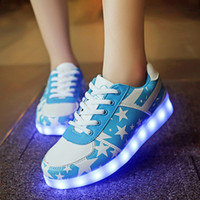 Wholesale Roller Skate Sneakers Kids - New 2017 Child Girls Boys LED Party Light with wheels Roller Skate Shoes For Children Kids fashion Sneakers With Wheels
