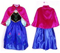 2017 Cute Frozen Girls Princess Costume Robe de soirée Baby Elegant Cosplay Dress Halloween Cosplay Ice Full Robe Fancy Dress Blue