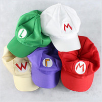 Super Mario Bros Anime Spiel Cosplay Ball Caps Halloween Baumwolle Hip Hop Berets Hut Super Mario und Luigi Caps 5 Farben