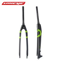 """Wholesale Brake Tube - Newest Ullicyc 26 27.5 29"""" inch Mountain bicycle full carbon bike front fork disc brake tapered tube MTB 26 27.5 29er Free ship"""