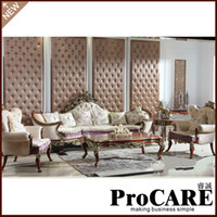 Wholesale Luxury Living Room Furniture Sofa Sets Made By Solid Wood