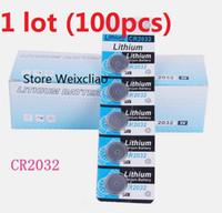 Wholesale 3v button cell battery resale online - 100pcs CR2032 V lithium li ion button cell battery CR Volt li ion coin batteries card