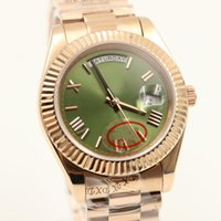 Wholesale christmas golden - 2017 Rolix day dateLuxury Brand new watch men day date daydate sapphire glass green dial 18k golden watch Automatic Watch Mens Watches