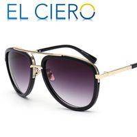 Wholesale Vintage Eyeglasses For Men - EL CIERO Classic Sunglasses For Men & Women 2017 High Quality Vintage Pilot Sun Glasses Unisex Metal Shades UV400 Protection Eyeglasses