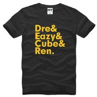 4167b28d Neue NWA T Shirts Männer Baumwolle Kurzarm N.W.A. Mitglieder Eazy-E Cube  Ren Dre Männer T-Shirt Sommer Stil Männlich Rap Hip Hop Top Tees
