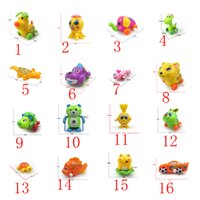Wholesale 16 models small scale Up chain toys animal Reward children Kindergarten gife turtle baby kids Bath toys