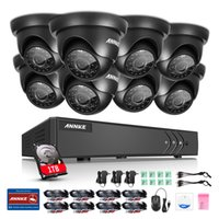 Wholesale Ip Ir Camera Dvr System - SANNCE 8CH 8PCS 1080N DVR 720 HD Video IR CUT Night Vison Outdoor Waterproof Home Surveillance Security CCTV System IP CAMERA 1 TB HDD