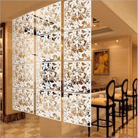 Wholesale Screen Divider Free Shipping - Free Shipping hanging screen partition brief personalized paravent decoration room dividers grilles decoration partition 4pcs