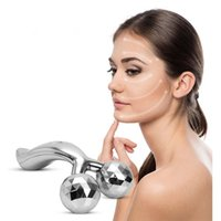 Wholesale Body Spa Sauna - Face Body Roller Massager-3D Reface Massager Roller Y-Shape Sliver Face Mask Body Spa