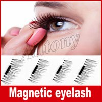 Wholesale Hair Remove - Magnetic Eyelashes 3D Mink handmade lashes no glue easy remove False Eye Lashes Extension Super Natural Long Fake Eyelashes
