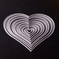 Wholesale Heart Die Cut - Dies DIY Carbon Album Paper Card Maker Metal Cutting Dies Heart Shape Rectangle Star Lace Decoration Template Die Set