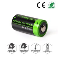 Wholesale Rechargeable Cr123a - Enegitech 16340 RCR123A Batteries 3.7V 750mAh Rechargeable Li-ion Battery CR123A Lithium Replacement for Arlo Camera Flashlight Camcorder To
