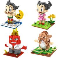 Wholesale Toy Astro Boy - LOZ Qute Kawaii Animal Hedgehog Angry Man Nano Cartoon Building Bricks Astro Boy Blocks Compatible Legoe Figures Toys 9623-9626