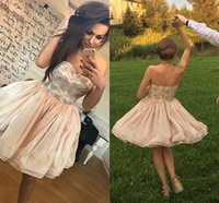 Wholesale Beautiful Chic - 2017 Beautiful Formal Cocktail Dresses Simple Sweetheart Ball Gown Special Chic Sexy Morden Short Skirt