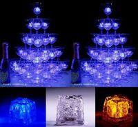 oyuncak piller açtı toptan satış-Pil ile Su Düğün Dekorasyon Yenilik Güzel Malzemeleri yılında Çevre Dostu 30Pcs Renkli Led Işık Up Buz küplerinin Oyuncak Parlayan