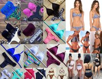 Wholesale Bikini Kinder - Buy 1 send 1 2017 Different kinds of Women Sexy Solidcolor Swimsuit Knitting Women Swimwear Girls Bikini Beach ,strap bathing Swimming Suit