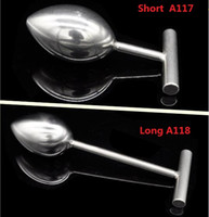 Wholesale Heavy Steel Butt Plug - 2018 Latest Heavy Type Metal Stainless Steel Anal Plug Butt Bead Adult Bdsm Game Bondage Anus Sex Toy For Unisex Chastity Belt Device 2 Size