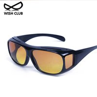 Wholesale Drivers Glasses - Wholesale- 2017 New Arrival Men's Glasses Car Drivers Night Vision Glasses Anti-Glare Polarizer Sun glasses Polarized Driving Sunglasses