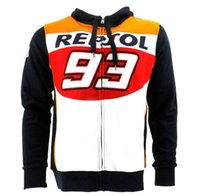 Wholesale Riding Shirt Motorcycle - Free shipping motorcycle Mark Marquis 93 Hoodies MotoGP Jackets Motorcycle riding culture Coats pure cotton long sleeves hoody