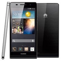 Wholesale Huawei Ascend Quad - Refurbished Original Huawei Ascend P6 4.7 inch K3V2E Quad Core 1.5GHz 2GB RAM 8GB ROM 8.0MP Camera Single SIM 3G WCDMA Smart Phone Free DHL