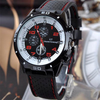 ingrosso gt grandi orologi da turismo-Luxury GT Grand Touring Men Watch Mens orologi militari GT Brand Sport cinturino in silicone cinturino orologi da polso orologio da polso al quarzo 2017