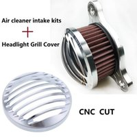 Wholesale Cleaning Headlights - Motorcycle accessories CHROME Headlight Cover   Air Cleaner Intake For Harley Sportster 883 1200 2004-2014
