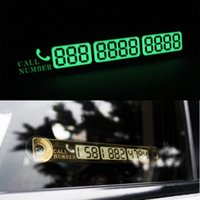 Wholesale Auto Phone Number - Car accessory Auto Luminous Phone Number Parking Card Stickers for Mazda 3 6 CX-5 Skoda Octavia 2 A7 A5 Rapid Fabia Superb