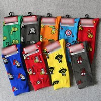 Wholesale Comics Women - Wholesale- 2017 High Quality Cotton Women Men Crew Socks Comics Cosplay Pattern Party Novelty Funny Party Socks Breathable Comfortable