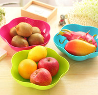 Wholesale Plastic Plums - Colorful fashion fruit plates dishes european style candy plates Food grade PP material plum blossom and square