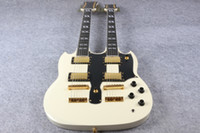 Wholesale Double Necked Sg - Wholesale- High Quality SG Double cream Neck Electric Guitar SG 1275 Model cream Finish For Sale EMS free shipping