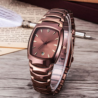 Wholesale Tungsten Watches For Men - New Men Watch Luxury Watches Famous Brand Style Calendar Dial Tungsten steel Quartz Wristwatches For men Gift rolejes clock free shipping