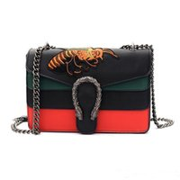 Wholesale Bags For Embroidery - Luxury Brand Women Handbags Famous Designer Shoulder Crossbody Bags For Women National style embroidery bee Bags 2017 NEW