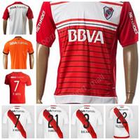 Wholesale Green River - CA River Plate Soccer Jersey 2017 18 Camiseta de futbol Personalized 7 R.MORA 1 BATALLA 2 MAIDANA 4 MOREIRA 6 LOLLO Football Shirt Uniform