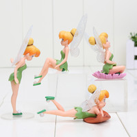 Wholesale Tinkerbell Years Figure - tinker bell 4Pcs Set Tinkerbell Fairy PVC Action Figures Tinker Bell Fairies Model Dolls Toy action figure