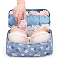 Wholesale Women Clear Bra - Wholesale- Travel Sexy Women zipper Makeup Bags Bra Underwear Waterproof And portable High Quality Organizer Bag Toiletry Bag Storage Case