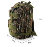 Wholesale Tactical Molle Backpack Waterproof - Outdoor Waterproof Tactical Combat Rucksack Backpack Bag Hiking Camping Mil-Tec Military Army Patrol MOLLE Assault Pack